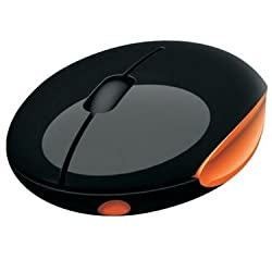 Portronics Imooze POR 201 Wireless Mouse (Black/Orange)