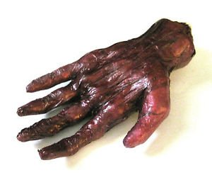 [Human Burnt Hand Scary Gory Zombie Body Part Halloween Party Decoration Prop] (Jack Torrance Costume)