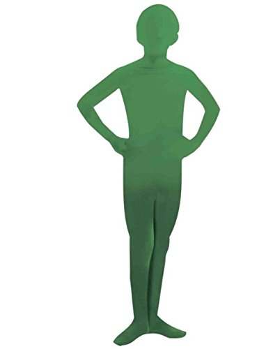 Teen Disappearing Man Costume Morph Outfit Blue Orange Green Black Boy Girl Skin