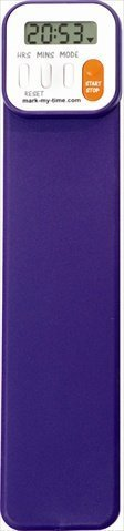 Mark-My-Time Digital Bookmark Purple (Book Timer compare prices)