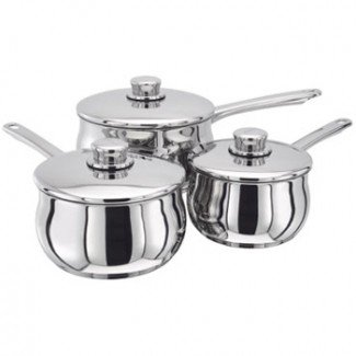 Stellar - 1000 - 3 Piece Saucepan Set (S1A1) 3 Piece Saucepan Set. As shown