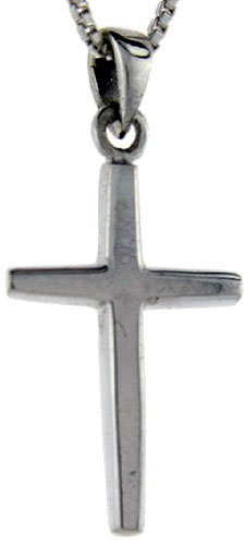 Sterling Silver Cross Pendant, 1 1/4 inch tall