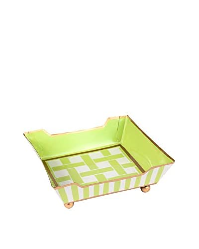 Jayes Basketweave Cocktail Napkin Tray, Green