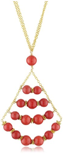 MINU Jewels Coral Vermeil Chandelier Necklace