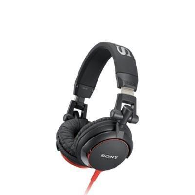 DJ Style Headphones Red Black