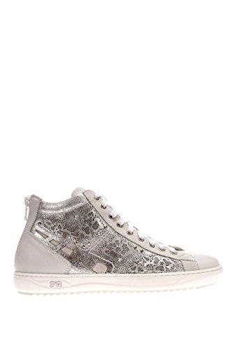 P615241D-707.Sneaker alta in pelle.Bianco.38