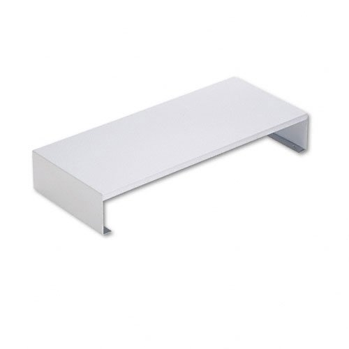 Master Products - Master - Steel PC Bridge, 23 1/8w x 10d x 3 3/4h, Pearl Gray - Sold As 1 Each - Elevates monitor 3-3/4
