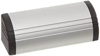 Aluminum Ledge Metric Pull Handle with Threaded Holes, Round Grip, Unfinished