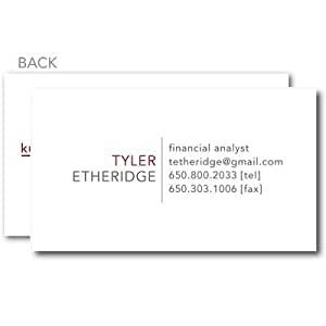 Amazon Business Cards Simple Executive Business