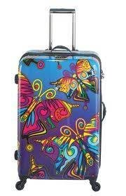 "Heys USA Novus Art Butterfly Flurry 20"" Ultralight Carry-on Suitcase/Case/Luggage from Heys USA"