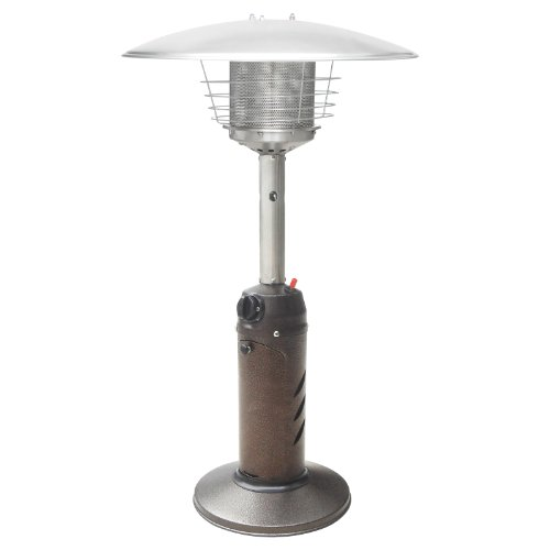 Premium Tabletop Propane Outdoor Patio Heater W/ Cover - Hammered Bronze Finish