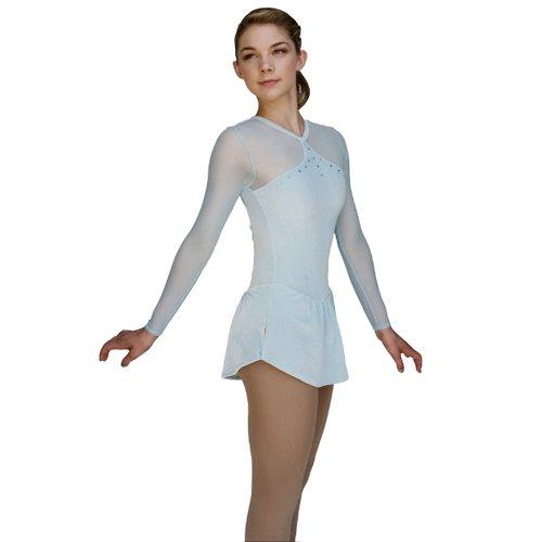 Light blue figure skating dresses