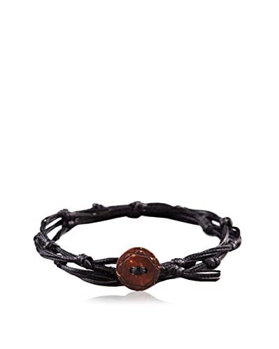 Rave by PerePaix Knotty Black & Brown Wrap Bracelet
