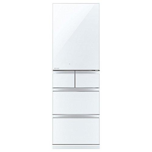 三菱 455L 5ドア冷蔵庫(クリスタルピュアホワイト)【右開き】MITSUBISHI 置けるスマート大容量 Bシリーズ MR-B46Z-W