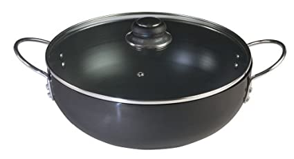 Nirlep Ebony Handi Kadhai With Glass Lid (5.5 L)