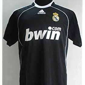 Real Madrid Away Soccer Jersey 08/09 & Matching Short Set (USA Size: M)