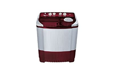LG P8239R3S Semi-automatic Washing Machine (7.2 Kg, Burgundy)