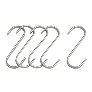 2 X Ikea Stainless Steel S-hook 700.113.97, 2.75-inch, Pack of 5
