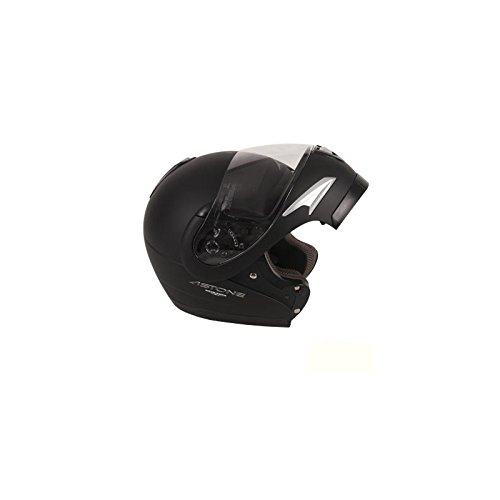 CASQUE INTEGRAL ASTONE MODULABLE VISIO NOIR MAT 53-54 XS