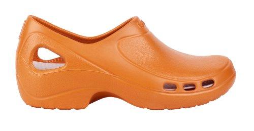 Everlite - Calzatura professionale WOCK - Tacco chiuso; Leggerissima; Antiscivolo; Antiurto - Arancione - UK : 6 ; EUR : 39