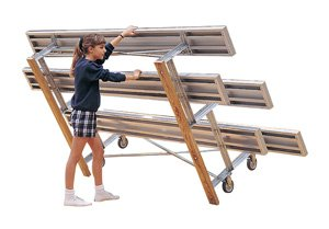 Ultra-play Systems Atnb212 21wx3dx23h 2 Rows 28 Seats Tip-and-roll Bleachers from Ultra-Play Systems