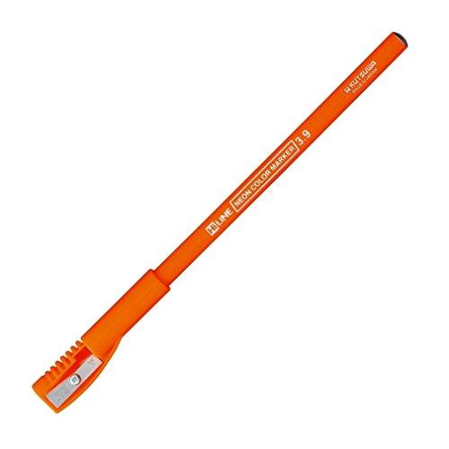 クツワ 鉛筆の蛍光マーカー RF017OR オレンジ 削り付キャップ付