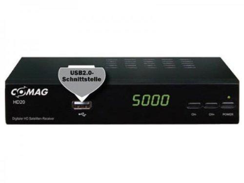 Comag HD 20 HDTV Satelliten Receiver (HDMI 1080p, SCART, USB 2.0, Full HD) schwarz