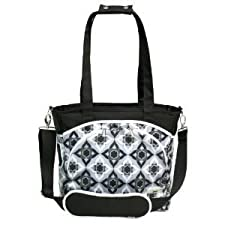 Laminated canvas 100% polyfill JJ Cole Mode Diaper Tote Bag changing pad included - Black Magnolia Nourrisson, Bébé, Enfant, Petit, Tout-Petits