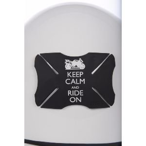 OXFORD - Oxford Bumper - Protection de casque de moto réutilisable - Keep Calm and Ride On