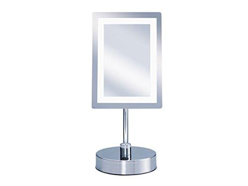 KOIZUMI(コイズミ) Bijouna(ビジョーナ) アイメイク・毛穴ケアに LEDライト付き 拡大鏡 【3倍】角型 W165×105mm KBE-3020/S
