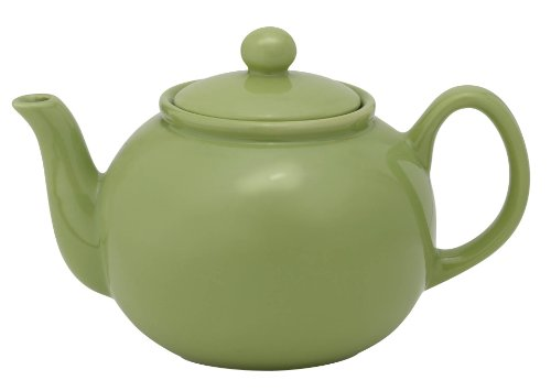 Hic Brands That Cook 32-Ounce Transitionals Ceramic Teapot With Stainless Steel Infuser, Sage