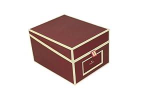 Desktop File Box bordeaux +++ STORAGE BOX +++ Quality made by Semikolon