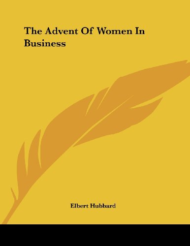 The Advent of Women in Business
