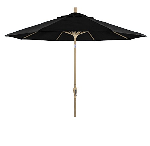 Eclipse Collection 9' Aluminum Market Umbrella Push Tilt - Champagne/Pacifica/Black