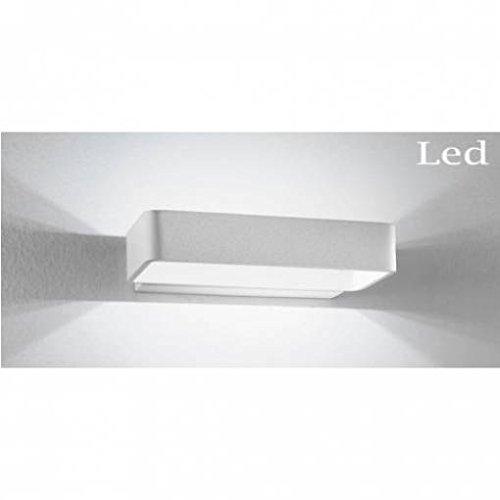 Applique rettangolare Illuminazione a Led serie Omega doppia emissione luce 1x4W 3500K