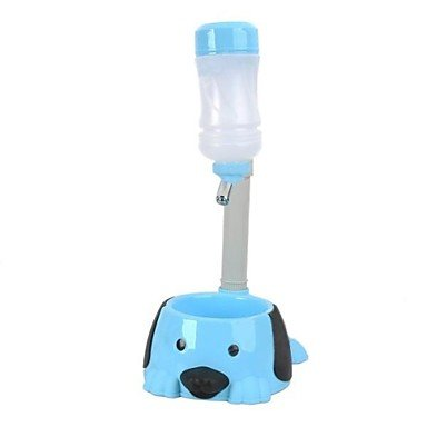 Zcl Pole Adjustable Pet Dog / Water Dispenser / Food Bowl - Blue