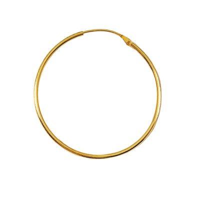 18K Gold Plated 40 mm Classic Creole Hoop Earrings