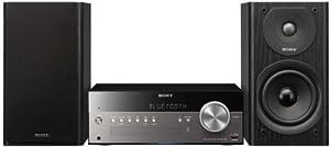 Sony CMT-SBT300W.CEL Système Audio (WiFi, Apple AirPlay, Bluetooth, USB, 100 Watt, CD-Player) Noir
