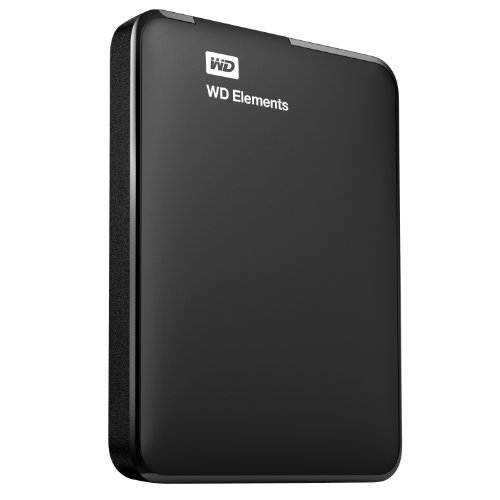 Western Digital Elements Portable Disque dur externe portable 2,5″ Extra Slim USB 3.0 / USB 2.0 500 Go Noir