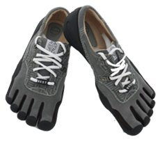Men's FiveFinger Shoes Urban Gray-size 11