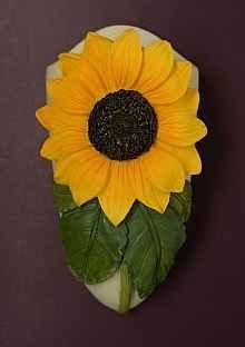 Sunflower Bud Vase Magnet