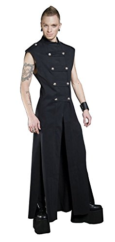 Shrine-Gothic-Steampunk-Rocker-Denim-Hellraiser-Jacket-Long-Trench-Coat
