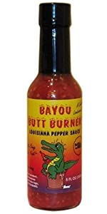 3 BOTTLES! Bayou Butt Burner Hot Sauce, 5oz.