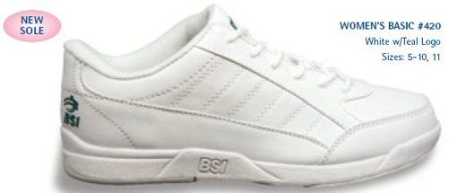 Picture of BSI Basic Womens Bowling Shoes White B001B15VS8 (Womens Bowling Shoes)
