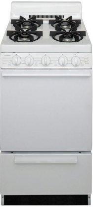 Premier-SHK100OP-ADA-Compliant-White-20-Sealed-Gas-Range-with-24-Cu-Ft-Capacity-Four-Sealed-9-100-BTU-Burners-4-Porcelain-Backguard-and-17-000-BTU-Oven-Burner-For-Natural-or-LP