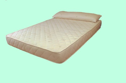 """9"""" All Natural Latex Cal King Size Mattress With Organic Cotton And Wool Quilted Cover front-695968"""