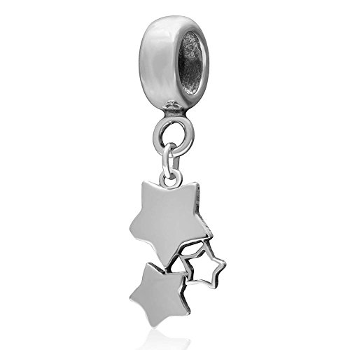 Choruslove Over The Stars Charm 925 Sterling Silver Pendant Bead Fits European Style Valentines Bracelet Or Necklace