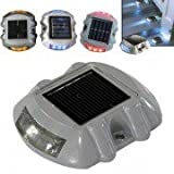 6-LED Solar Powered Outdoor Road Stud Light Garden Lamp Road Lamp Traffic Light