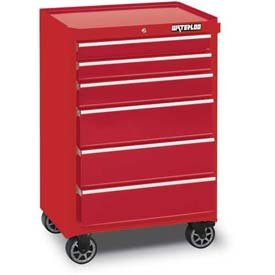 """Waterloo 26"""" 6-Drawer Tool Cabinet With Upgraded Casters, Red (Wca-266Rd-C"""