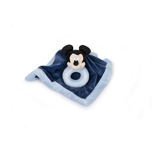 Disney Mickey Mouse Security Blanket & Rattle Set - 1